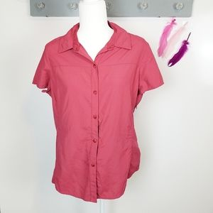 Size L | REI Short Sleeve Hiking Camping Button Up